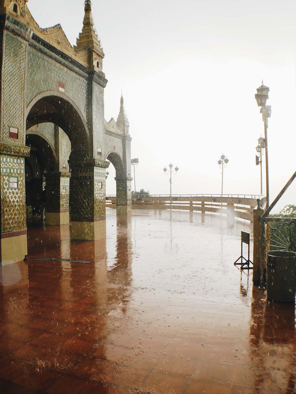 Raining at Mandalay Hill
